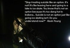 Please don't treat suicide as an option. Reach out if you're feeling this way. I know you may feel that nobody cares, I've been there too, but believe me, more people care than you realize. People like me. *Edit made by Truli M. Strother.