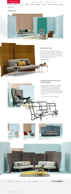 Patricia Urquiola for Haworth office furnitures Furniture Showroom, Sofa Furniture, Office Furniture, Office Space Design, Workplace Design, Lounge Design, Sofa Design, Commercial Design, Commercial Interiors