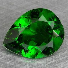 Diopside 110794: 3.06Cts 9X11mm Pretty Pear Chrome Green Natural Chrome Diopside Loose Gemstones -> BUY IT NOW ONLY: $74.99 on eBay!