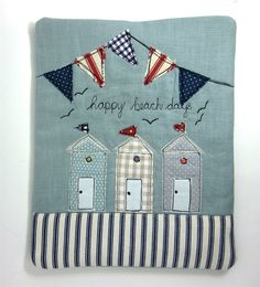 iPad Cover Tablet Case  Beach Huts and Bunting by modernandvintage, £23.00