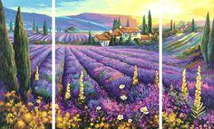 SCHIPPER Malen Nach Zahlen Lavendelfelder Triptychon 609260595   eBay