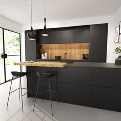 Small Room Design Bedroom, Kitchen Room Design, Ikea Kitchen, Modern Kitchen Design, Home Decor Kitchen, Interior Design Kitchen, Black Kitchens, Home Kitchens, Outdoor Kitchen Bars