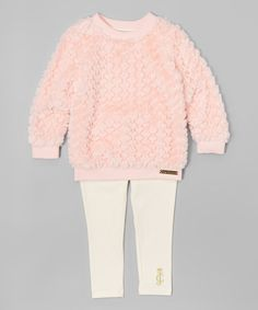 Juicy Couture Pink & White Plush Tunic & Leggings - Infant, Toddler & Girls | zulily
