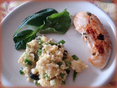 French style BBQ lunch : Poulet mariné et taboulé de chou-fleur (marinated chicken and cauliflower tabuleh)