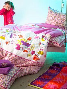 La Petite Sirene Reverible Duvet & Sham Set by Catimini Bedding on Gilt.com...So cute...