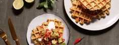Healthy baking: the best savory protein waffles Health Snacks, Health And Nutrition, Amuse Bouche Vegan, Healthy Baking, Healthy Recipes, High Protein Snacks, Gluten Free Pizza, Low Carb Dinner Recipes, Low Carb Breakfast