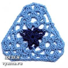 Delicadezas en crochet Gabriela: 23 Patrones Gratis de Motivos triangulares en crochet