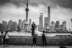 Shanghai wedding… with a Metroscape backdrop. The Bund. Friday, 10th June, 2016. Photography Wil Graham