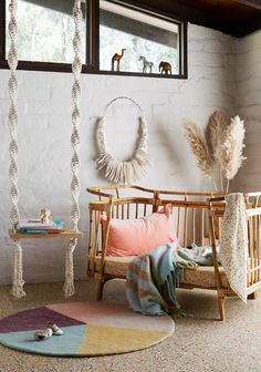 Wategos Cot - Rattan cot produced by The Rattan Collective