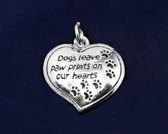 HeartShaped Sterling Silver Plated Pawprint by RescueArtWorks, $4.99