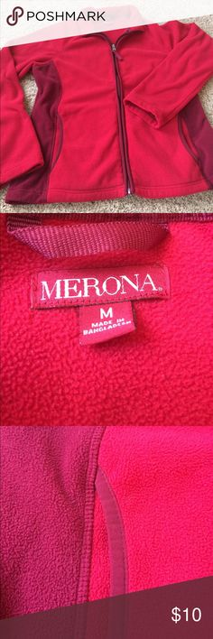 Two-toned red fleece zip-up Red and wine colored zip up. Fleece jacket. Perfect for fall campfires and football games! merona Jackets & Coats