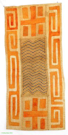 Kuba Raffia Textile Overskirt with Appliquéd Patterns Africa - Kuba Raffia…