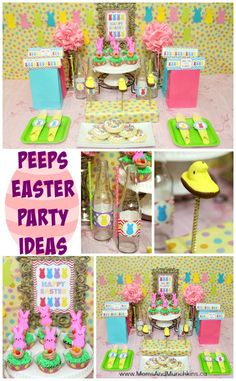 PEEPS Easter Party Ideas - fun ideas for a Peeps Easter Party with printables Marshmallow Peeps are one of those Easter treats that I look forward to every year. Here are some fun Peeps Easter party ideas surrounding this yummy treat! Easter Party Games, Easter Games For Kids, Easter Activities, Easter Subday, Easter Peeps, Easter Treats, Happy Easter, Party Themes, Party Ideas