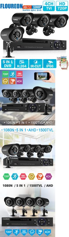 Surveillance Security Systems: 4Ch 1080N Cctv 5In1 Tvi Ahd Hdmi Dvr 1500Tvl Video Ir Camera Security System Kit -> BUY IT NOW ONLY: $79.99 on eBay!