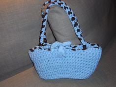 borsa Monic realizzata interamente in fettuccia