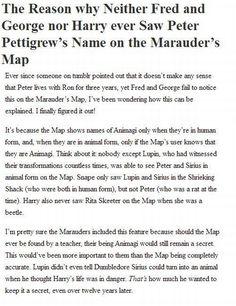 Animagi on the Marauder's Map... - Imgur
