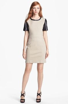 MARC BY MARC JACOBS Mixed Media Sheath Dress