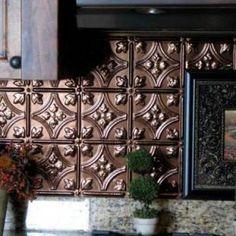 Kitchen Backsplash Tin stamped metal backsplash! | kitchen | pinterest | tin tile