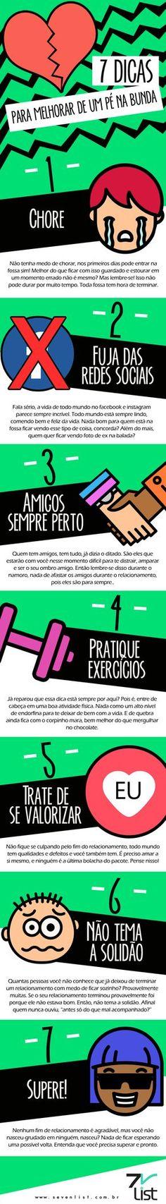#SevenList #Art #Infográfico #Design #Comportamento #Relacionamento #Amor #Paixão #Namoro #Love #Pénabunda #Superação #FimdeNamoro