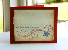 Red White & Blue - 4th of July Card