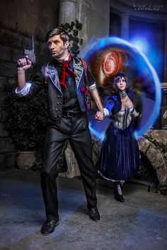 Elizabeth & Booker cosplay (Bioshock Infinite) by Ver1sa and QQ