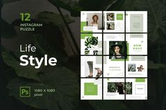Instagram Puzzle – Women Lifestyle, is a professional, modern and elegant template for your Instagram posts and Gallery. Inspirational Posts, model photography, product Gallery, introduce your brand and more. With this Instagram post template, you can easily improve the quality of your Instagram with a more attractive and professional one.This template is fully editable and can be customized in Adobe Photoshop. It's very simple to use these template in Photoshop. Just edit texts and put your… Instagram Banner, Instagram Grid, Free Instagram, Instagram Story, Instagram Posts, Layout Template, Templates, Puzzle Crafts, Envato Elements
