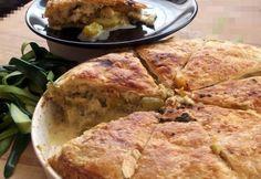 Halas-cukkinis pite kaporral Mashed Potatoes, Pie, Ethnic Recipes, Food, Whipped Potatoes, Torte, Tart, Smash Potatoes, Fruit Cakes