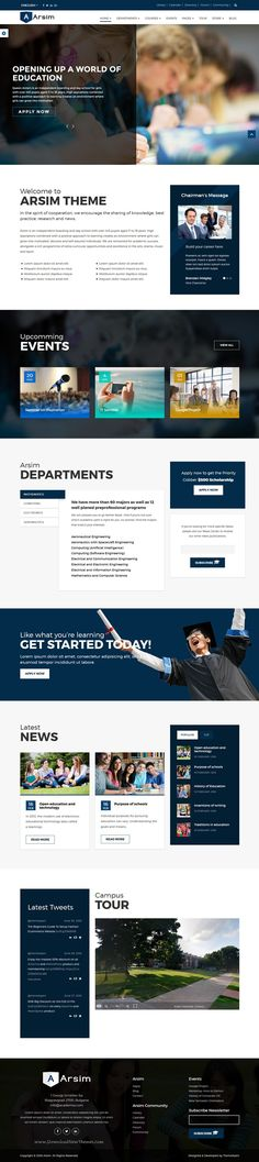 Arsim is perfect #education WordPress #Theme with WooCommerce for School, College and University #website. Download Now!