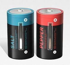D-Cell Battery Styled Salt and Pepper Shakers