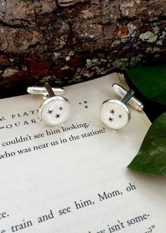 These cufflinks are a perfect subtle accessory for suits. | 27 Things You Need To Have A Classy AF Harry Potter Wedding