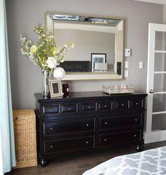 Vintage Bedroom Colors Benjamin Moore Ideas For 2019 Benjamin Moore, Dark Furniture, Home Decor Furniture, Bedroom Furniture, Condo Bedroom, Bedroom Decor, Bedroom Ideas, Dark Brown Bedrooms, Credenza Decor
