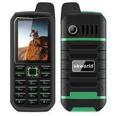VK World Stone V3 Plus Elderly Phone (Green)