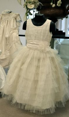 First Communion Dress ~ Flower Girl Dress ~ Easter Dress ~ by www.CouturesbyLaura.Etsy.com ~ $340.00