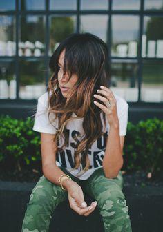 camo + curls