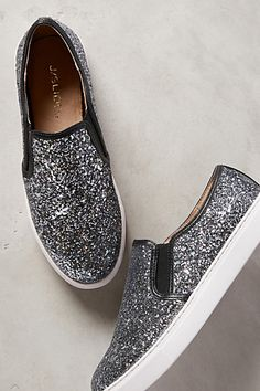 I am in love!! J Slides Glitzern Sneakers - anthropologie.com