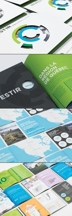 Investors Brochure Design by lg2boutique for Québec International
