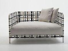 Upholstered polypropylene sofa with removable cover STRIPES | Sofa - PIERANTONIO BONACINA