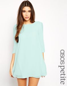 ASOS PETITE Exclusive Bow Sleeve Shift Dress