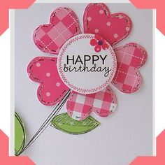 Diary of the everyday life of a crafter: Fruit Scoop--sweet flower Handmade Birthday Cards, Happy Birthday Cards, Greeting Cards Handmade, Diy Birthday, Happy Birthdays, Birthday Quotes, Funny Birthday, Craftwork Cards, Bday Cards