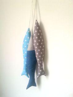 A Set of Soft Fabric Fish Toy. Nursery or House by MyBubolina