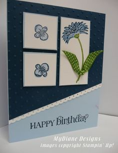 MyDiane Designs, Reason to Smile, Curly Cute, Stampin' Up, Handmade cards