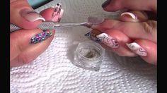 VIDEO TUTORIAL: Create a Glitter Dusting over Gel Polish! Created using NSI Polish Pro Gel Polish and Secrets Sparkles