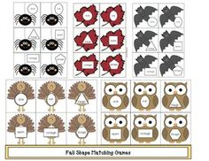 th.netfall games, daily 5 for fall, fall word work, number cards, number games, math centers, math games, spider activities, shape activities, sha...