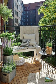 Cool 42 Lovely Small Balcony Design Ideas. More at https://homehihoo.com/2018/07/04/42-lovely-small-balcony-design-ideas/