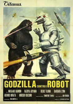 Mecaking vs. Godzilla (Gojira tai Mekagojira, 1974): pósters italianos con todo el swing
