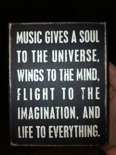 Music = soul...