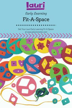 The Lauri Early Learning Fit-A-Space combines crepe rubber puzzles and lacing to help develop fine-motor skills and shape recognition for your toddler or preschooler. Perfect for at home or in the classroom! Learning Toys, Early Learning, Help Teaching, Classic Toys, Fine Motor Skills, Educational Toys, Gift Guide, Puzzles, Preschool