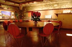 screening room, Frank Lloyd Wright's Taliesin West, Scottsdale, Arizona