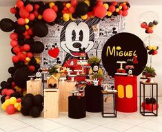 Mickey Mouse Birthday Decorations, Mickey Mouse Balloons, Mickey Mouse Centerpiece, Mickey Mouse Parties, Mickey Party, Elmo Party, Dinosaur Party, Mickey 1st Birthdays, Mickey Mouse First Birthday