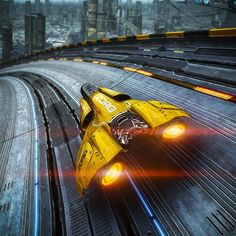 Looks like Wipeout, my favorite racing game from Playstation 1.